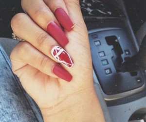 beauty, red, and nails image