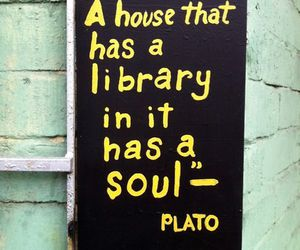 books, library, and plato image