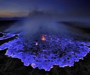 volcano, blue, and lava image