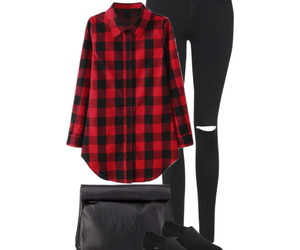 black, clothes, and clothing image