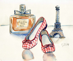art, dior, and eiffel tower image