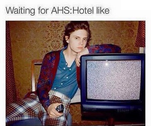 ahs, evan peters, and hotel image