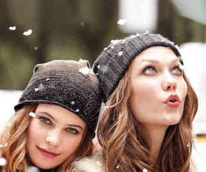 girl, snow, and Behati Prinsloo image