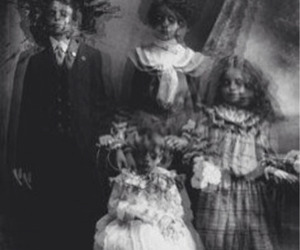 black and white, horror, and creepy image