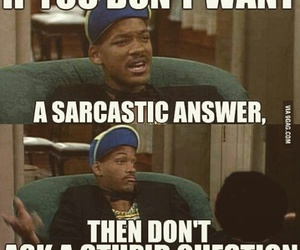 funny, sarcastic, and will smith image