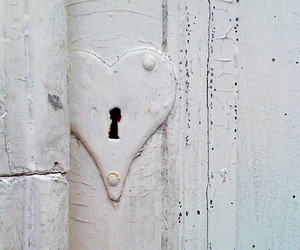 heart, lock, and white image