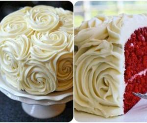 beautiful, rose, and cakes image