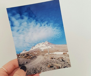 blue, mountain, and photograph image