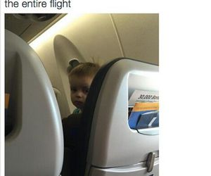 flight, funny, and plane image