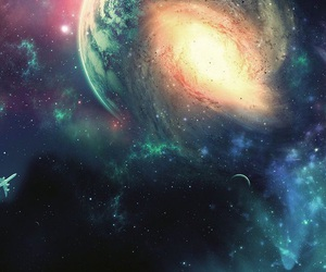 background, galaxy, and landscape image