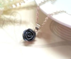 Everyday Wear, polymer clay rose, and wire wrapped rose image