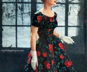 fashion, 1950s fashion, and 1950s fashions image