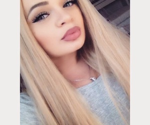 big lips, blonde, and dope image