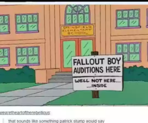 fall out boy, funny picture, and simpsons image