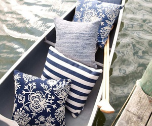 boat, pillows, and photography image