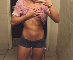 abs, inspiring, and gains image