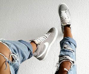 fashion, nike, and jeans image