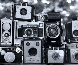 antique, black and white, and camera image