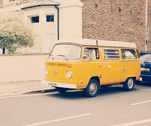 yellow, car, and van image