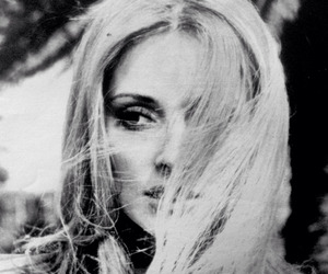actress, sharon tate, and black and white image
