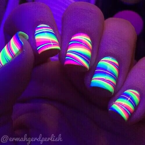 beautiful, neon, and style image