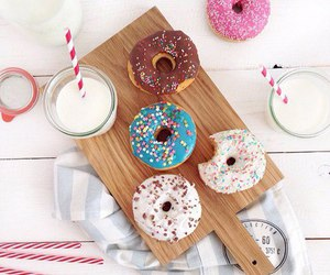 colors, donuts, and enjoy image