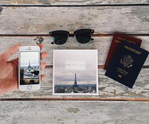 travel, paris, and passport image