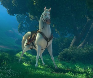 disney, tangled, and horse image