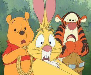 rabbit, winnie the pooh, and tigger image