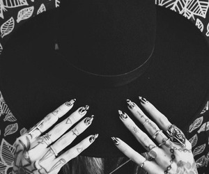 tattoo, hat, and black image