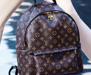 backpack, brown, and Louis Vuitton image