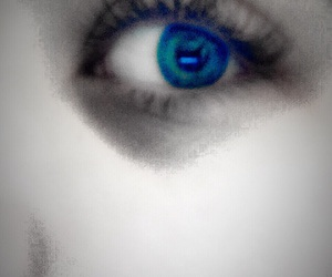 photography, blue eyes, and Darkness image