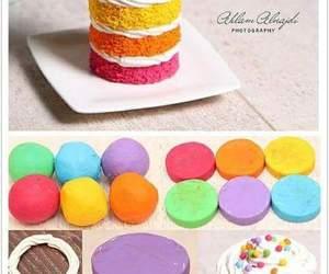 diy, rainbow, and cake image