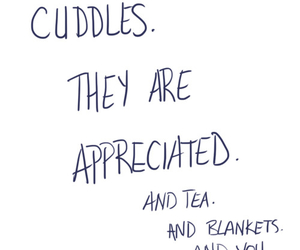 cuddle, love, and tea image