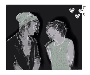fan art, louis tomlinson, and larry stylinson image