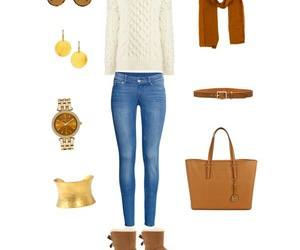 autumn, brown, and look image