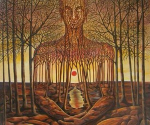 man and trees image