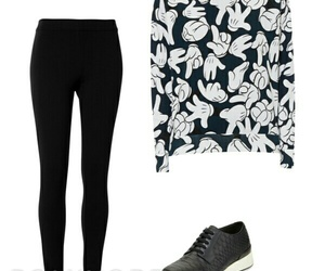 black, leggings, and Polyvore image