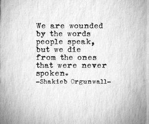 words and wounded image