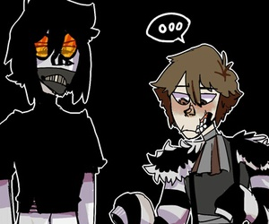 creepypasta, laughing jack, and ticci toby image