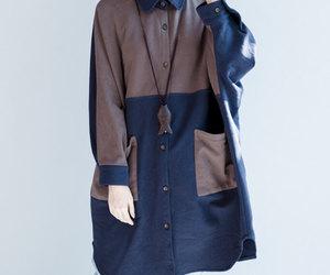 coat, autumn coat, and autumn coat,loose coat image