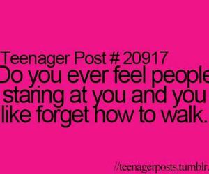 teenager post, funny, and walk image