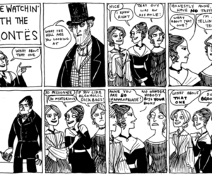 bronte, comic, and sisters image