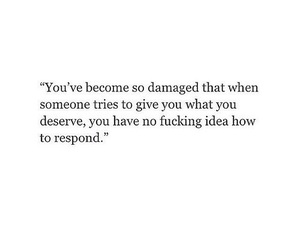 damaged and quote image