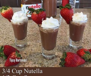 nutella, vodka, and drink image