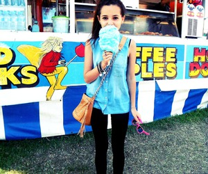 girl, pretty, and cotton candy image