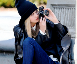 model, cara delevingne, and camera image