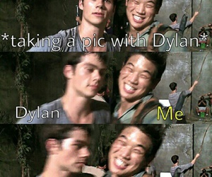 me, pic, and dylan o'brien image