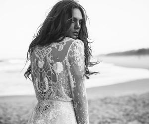 black and white, white, and dress image
