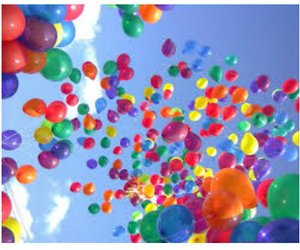 balloons, colors, and sky image